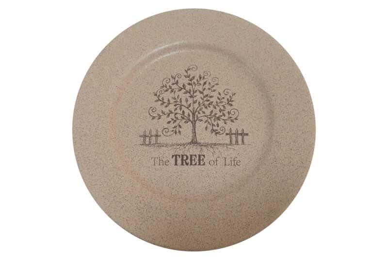 Дерево жизни Обеденная тарелка из керамики Terracotta из Китая 26 см.