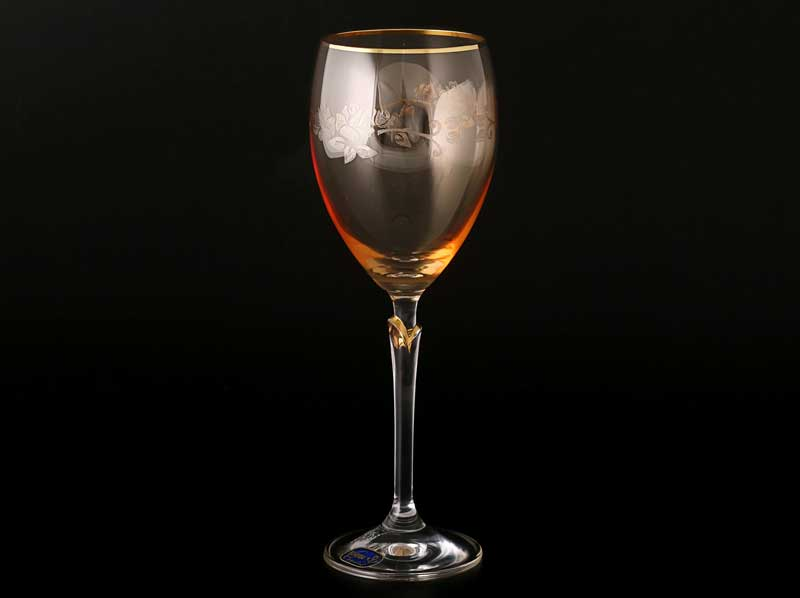 Lilly 20754 Набор бокалов для вина 250 мл желтые (6 шт) Кристалекс