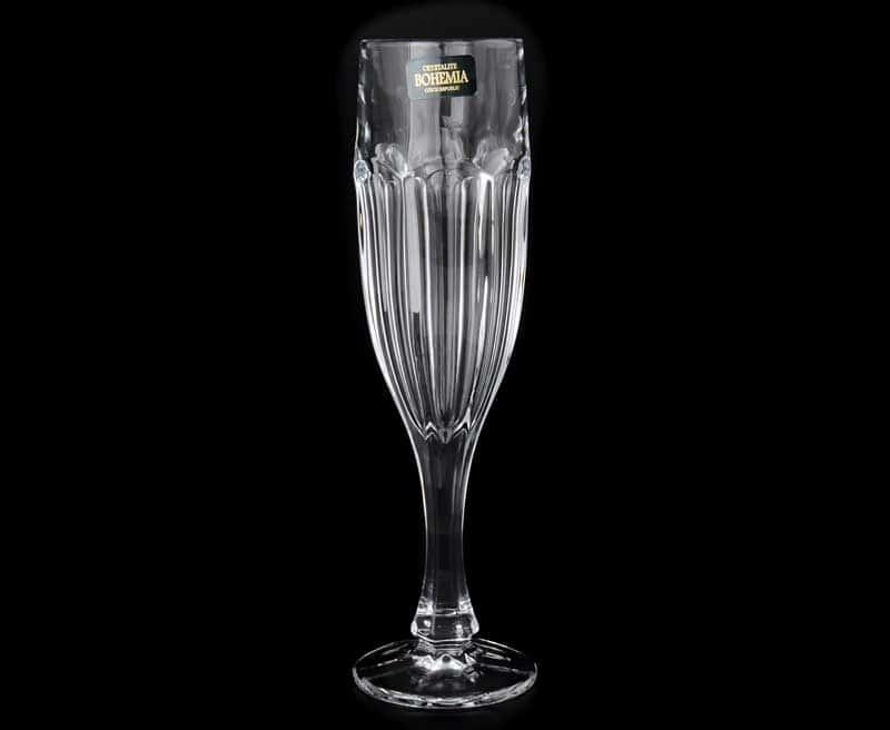 Сафари без декора Набор фужеров для шампанского Crystalite 150 мл (6 шт)