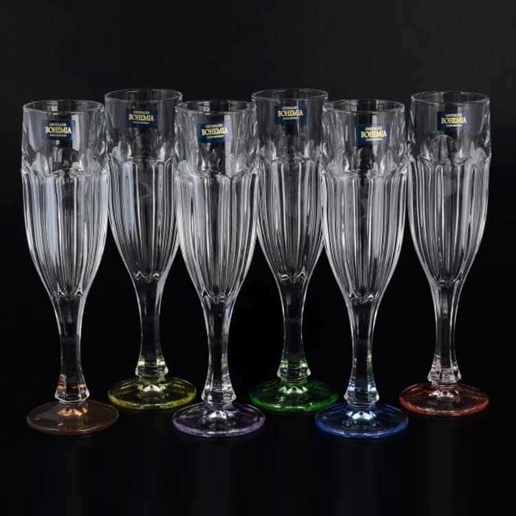 Сафари Ассорти Набор фужеров для шампанского Crystalite 150 мл (6 шт)