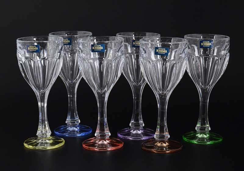 Сафари Ассорти Набор бокалов для вина Crystalite 190 мл (6 шт)