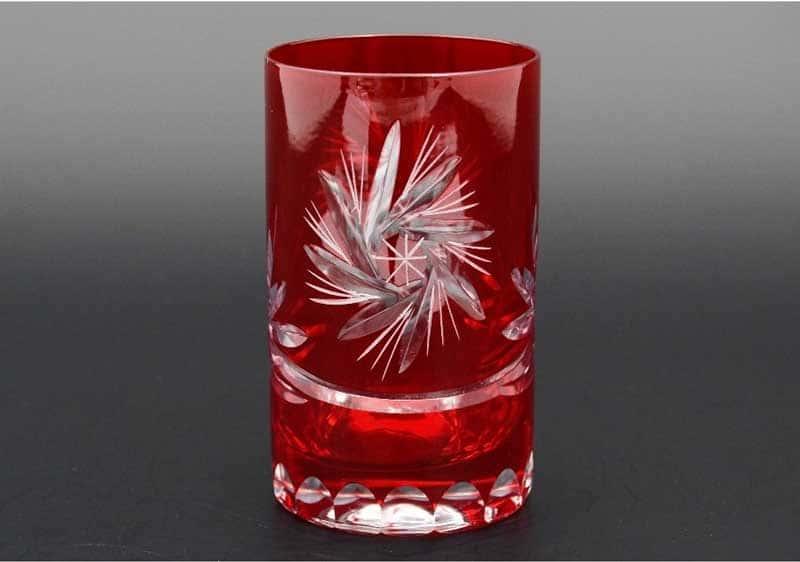 Идеал красный Набор стаканов для воды 150 мл (6 шт)