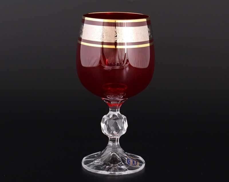 Клаудиа платина красный 40149 Набор бокалов для вина 190 мл (6 шт)