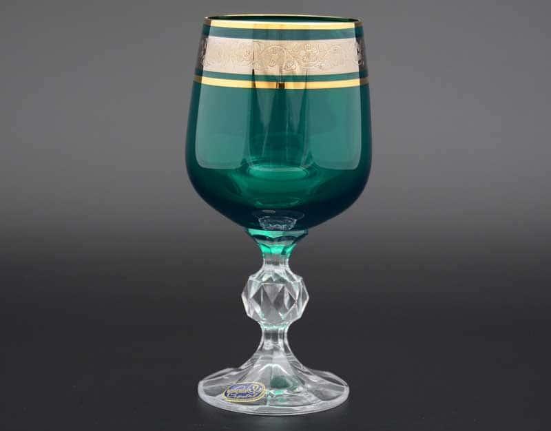 Клаудия платина зеленый 40149 Набор бокалов для вина 230 мл (6 шт)