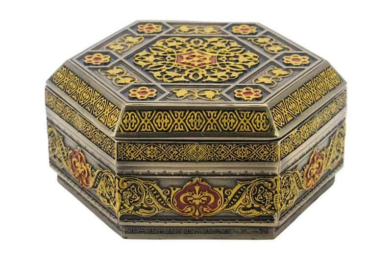 Арабеска (красная) Шкатулка Veronese из Китая в подарочной упаковке