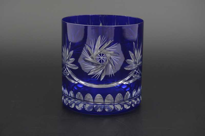 22J29/col 40149 Набор бокалов для виски из богемского стекла 420 мл  синие