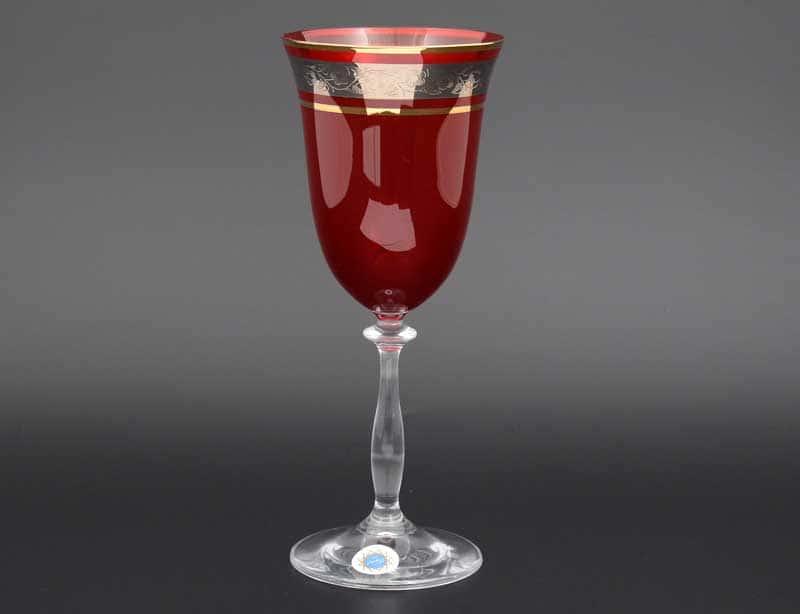 Анжела платина красный 40149 набор бокалов для вина 350 мл (6 шт)