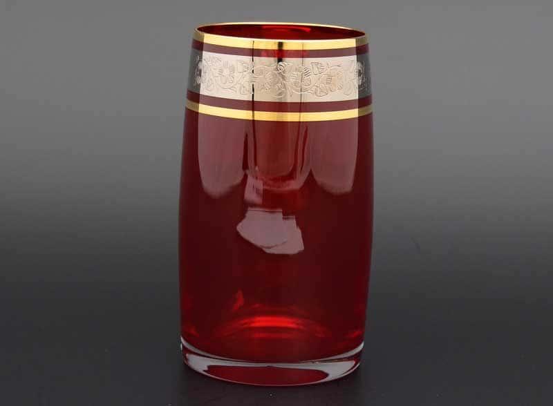 Идеал платина красный 40149 Набор стаканов для воды 250 мл (6 шт)