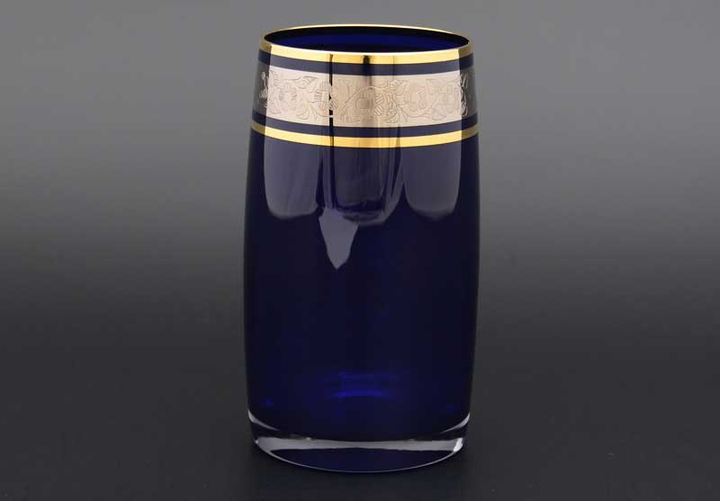 Идеал платина синий 40149 Набор стаканов для воды 250 мл (6 шт)