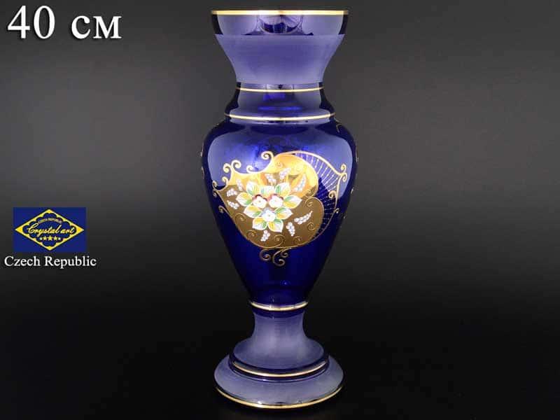 Синяя NB-Arte Ваза для цветов Crystal Art  40 см