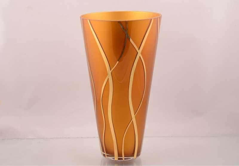 Оранжевая NB-Arte Ваза для цветов Crystal Art 27 см
