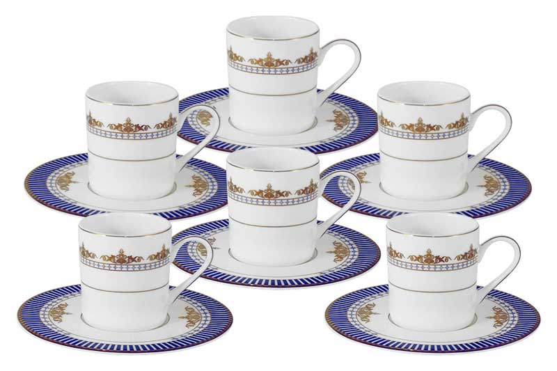 Флагман Кофейный набор: 6 чашек + 6 блюдец Naomi Китай в подарочной упаковке