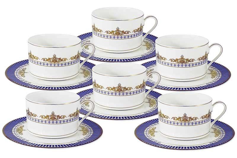 Флагман Чайный набор: 6 чашек + 6 блюдец Naomi Китай в подарочной упаковке