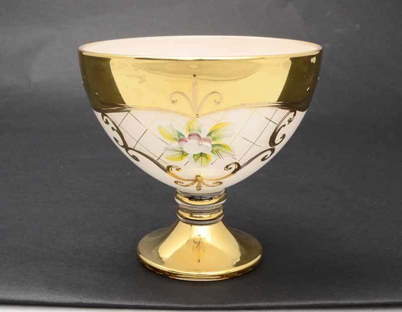 Лепка белая U-R золотая ножка Варенница Bohemia 13 см