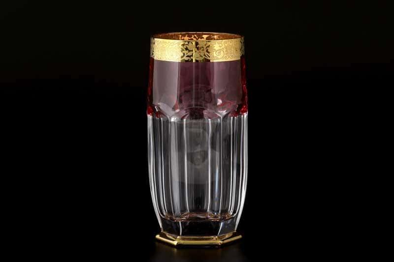 Сафари розовый Набор стаканов для воды Bohemia 350 мл (6 шт)