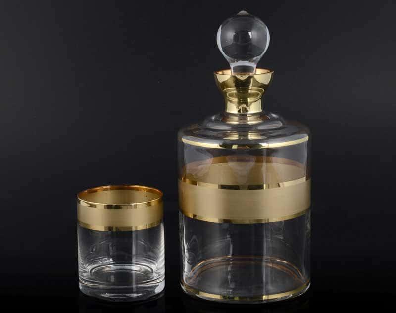 Матовая полоса B-G фон Набор для виски Balvinglass 7 предметов
