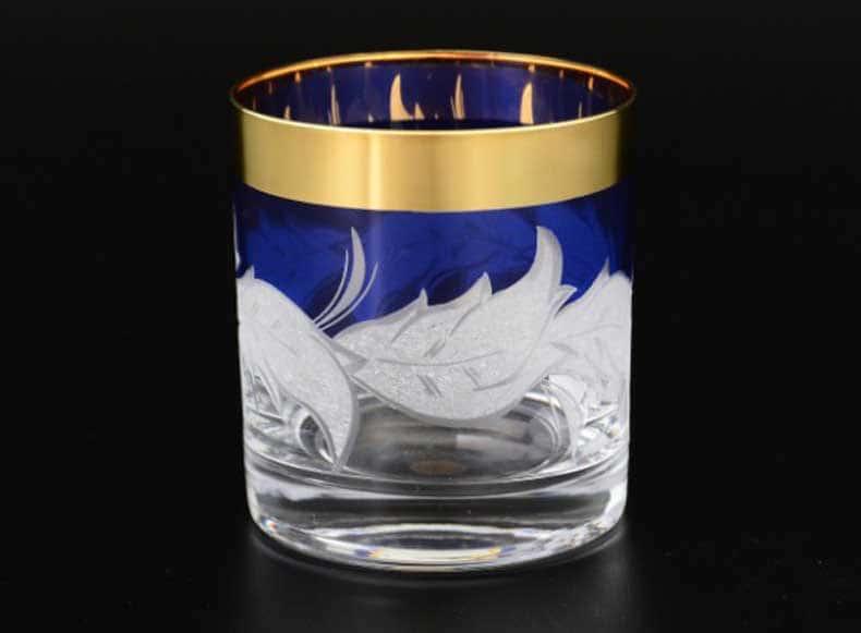 Волна синяя E-V Набор стаканов для виски Bohemia 280 мл