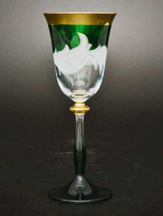 Волна зеленая E-V Набор бокалов для вина Bohemia