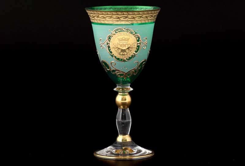 Версаче Богемия B-G Грация Набор бокалов для вина зеленый (6 шт)