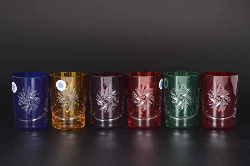 Цветной хрусталь Набор стаканов для воды Bohemia 200 мл (6 шт)