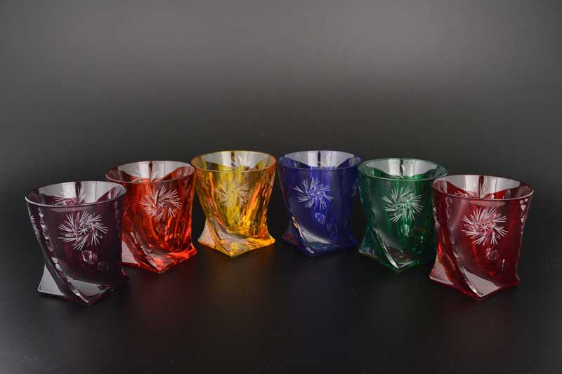 Quadro Цветной хрусталь Набор стаканов для виски 320 мл (6 шт)