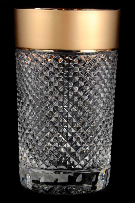 Felicia Набор стаканов для воды 200 мл Sonne Crystal Золото (6 шт)