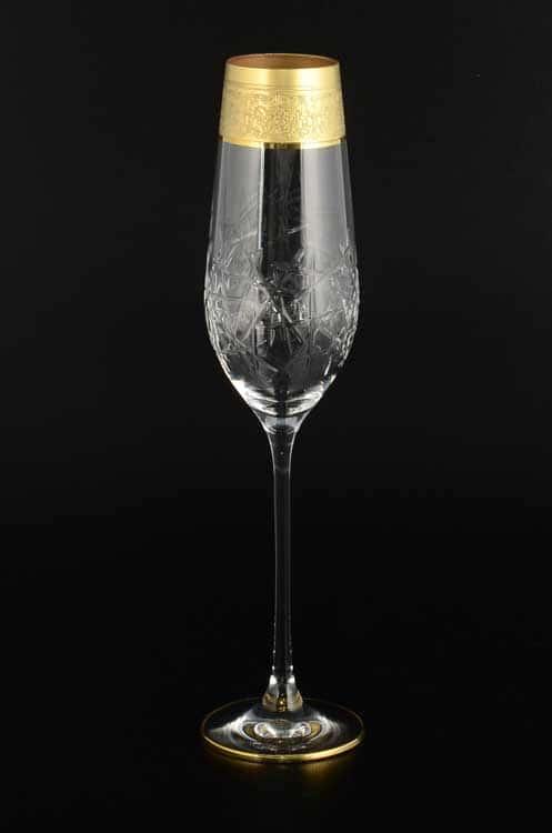 TIMON прозрачный Набор фужеров для шампанского из хрусталя Италия