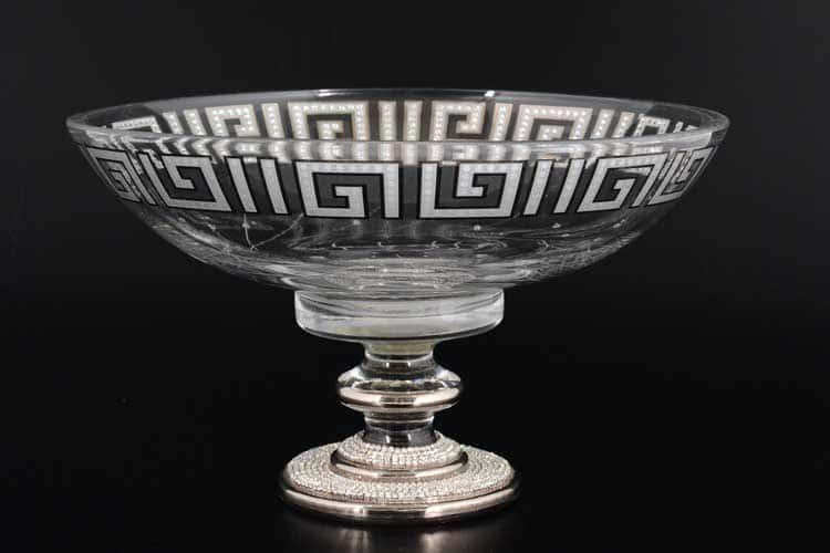Versace платина Arium Фруктовница на ножке