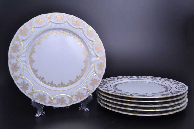 Venezie Redrose Polirgold Набор тарелок 27 см Бавария (6 шт)