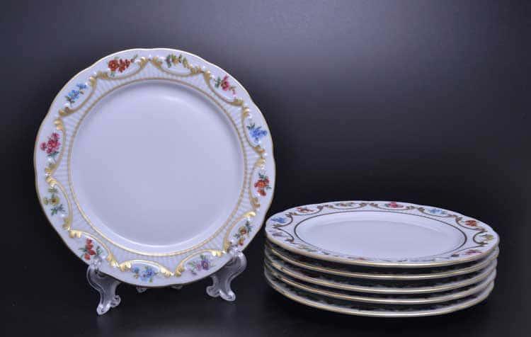 Venezie Blumen Polirgold Набор тарелок 17 см Бавария (6 шт)
