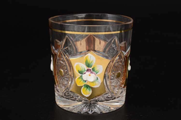 Хрусталь с золотом R-G Набор стаканов для виски Bohemia 320 мл (6 шт)