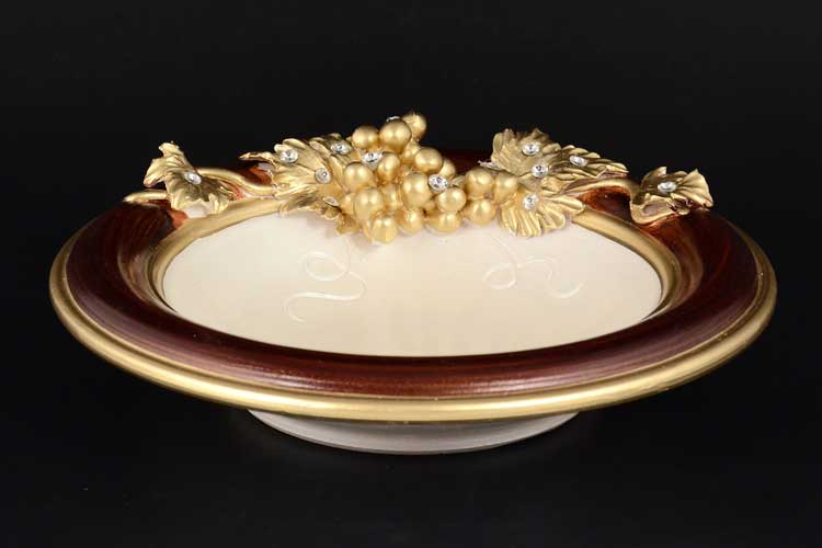 Via Veneto Блюдо круглое глубокое 24 см из керамики