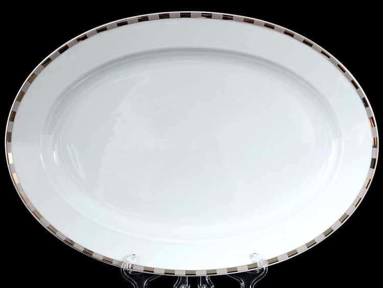 Опал Платиновые пластинки 3200 Блюдо овальное 36 см Thun