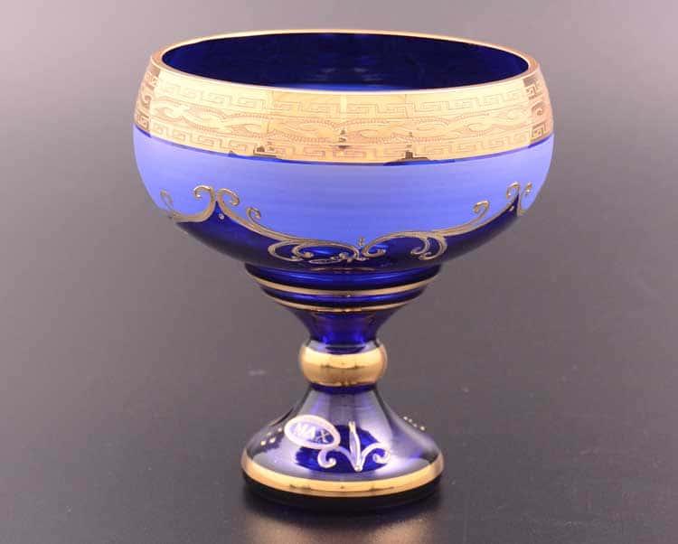Лепка Версаче М-Х Ваза для конфет синяя Bohemia Max Crystal 13 см