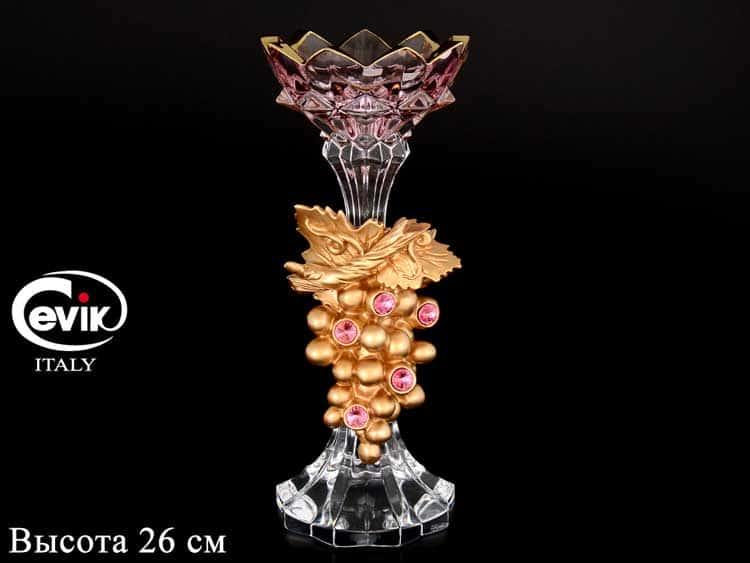 Подсвечник Cevik Group на 1 свечу  26 см