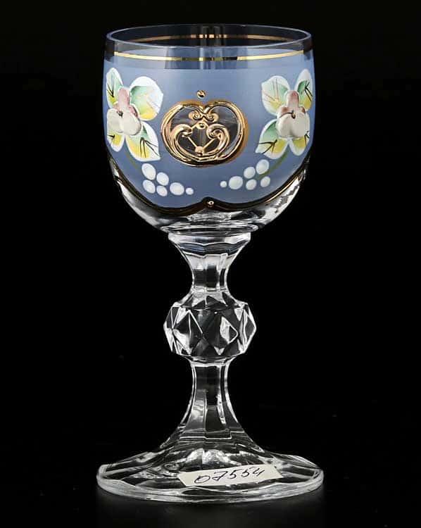 Лепка синяя D-V Фужер для ликера Bohemia