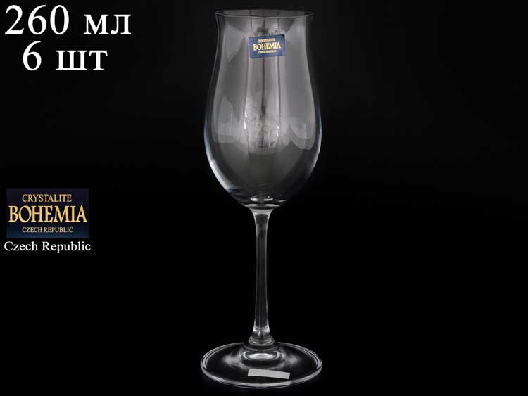 ELLEN Набор бокалов для вина 260 мл Crystalite (6 шт)