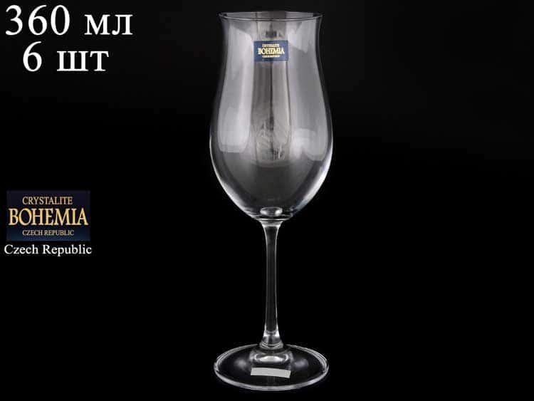 ELLEN Набор бокалов для вина 360 мл Crystalite Bohemia (6 шт) 19705