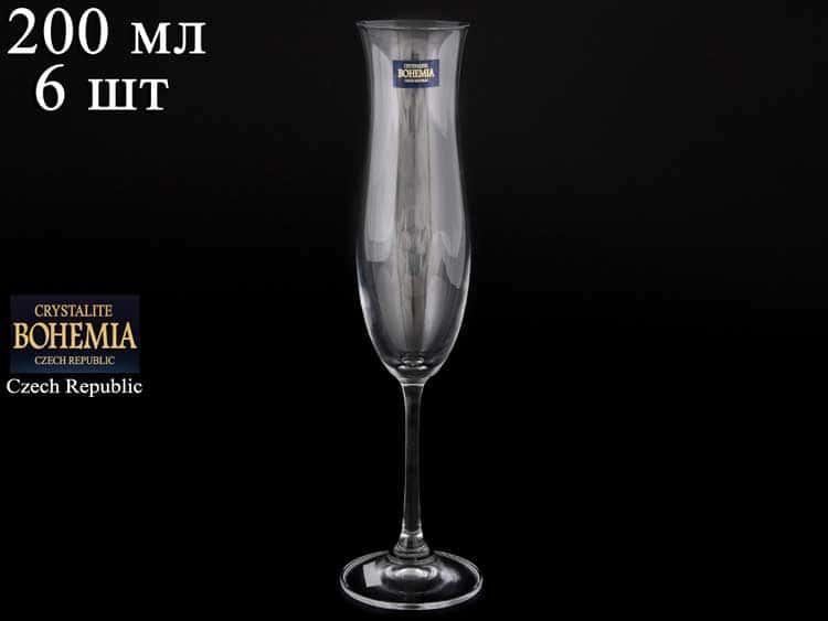 ELLEN Набор фужеров для шампанского 200 мл Crystalite Bohemia (6 шт) 38919