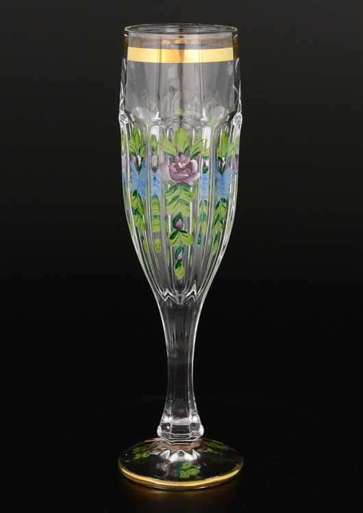 Сафари Роспись прозрачные A-M Набор фужеров для шампанского (6 шт)