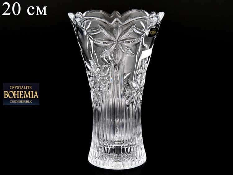PERSEUS-NOVA Ваза для цветов иксовка 20 см Crystalite Bohemia