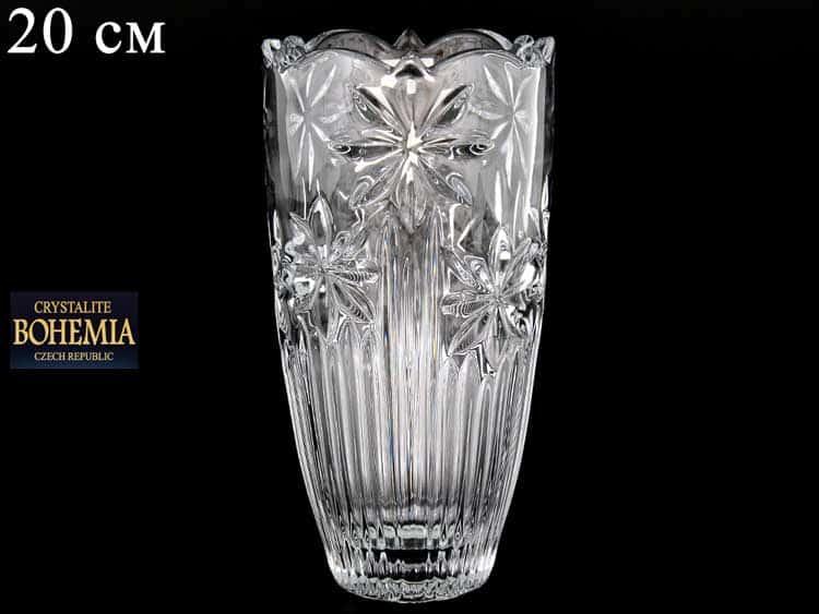 PERSEUS-NOVA Ваза для цветов Crystalite Bohemia 20 см