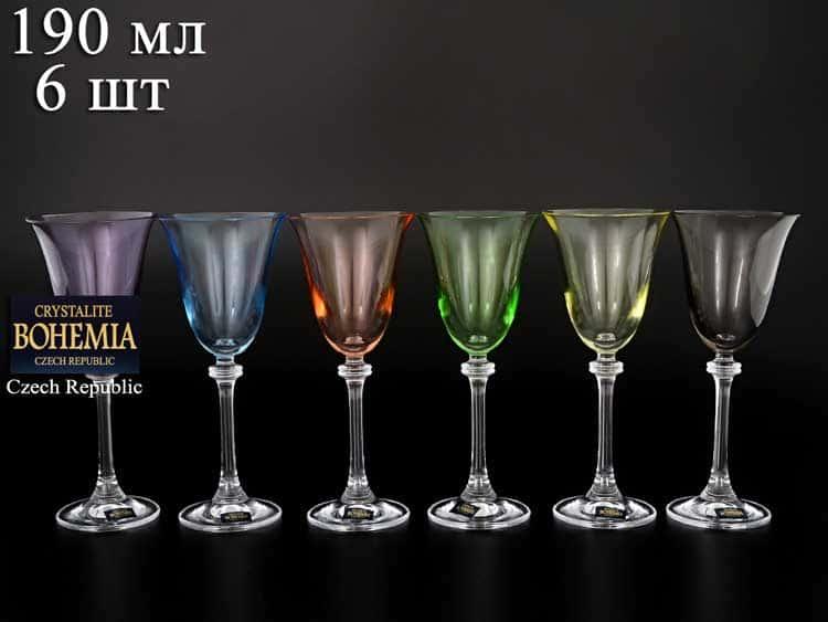 Александра Арлекино Набор бокалов для вина Crystalite 185 мл (6 шт)