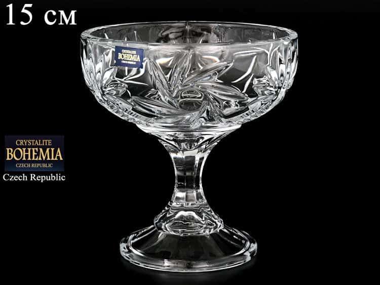 PINWHEEL Конфетница на ножке Crystalite Bohemia 15 см 25244
