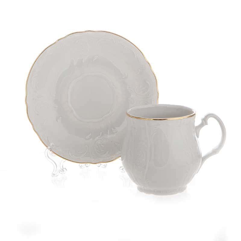 Бернадот белый 311011 Пара чайная на 1 перс. 2 пред.
