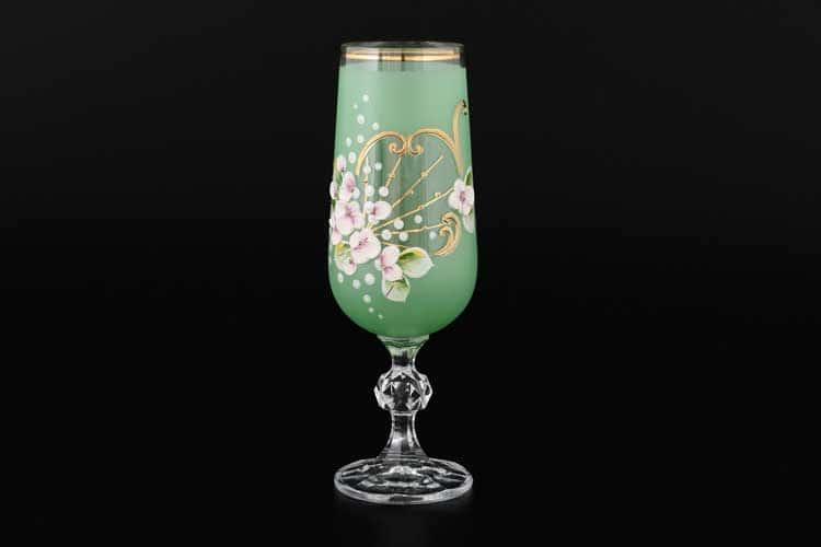 Лепка зеленая D-V Набор фужеров для шампанского 180 мл