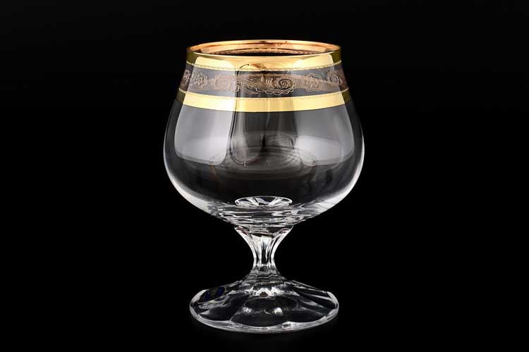 Диана QP656 Набор бокалов для бренди Bohemia Crystal 250 мл (6 шт)
