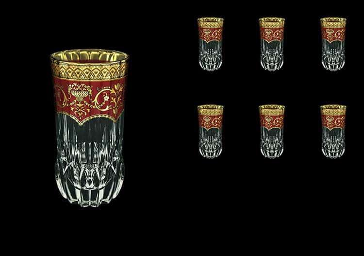 Версаче Глава Лаура Набор стаканов Astra Gold 6 шт 400 мл красный
