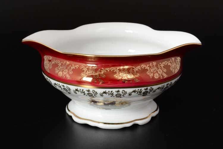 Царская Красная Охота Соусник 500 мл Royal Czech Porcelain (6 шт)
