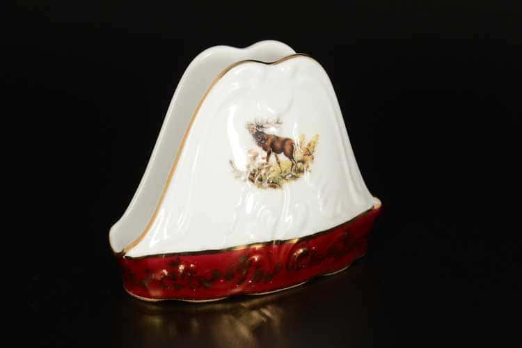 Царская Красная Охота Салфетница Royal Czech Porcelain (6 шт)